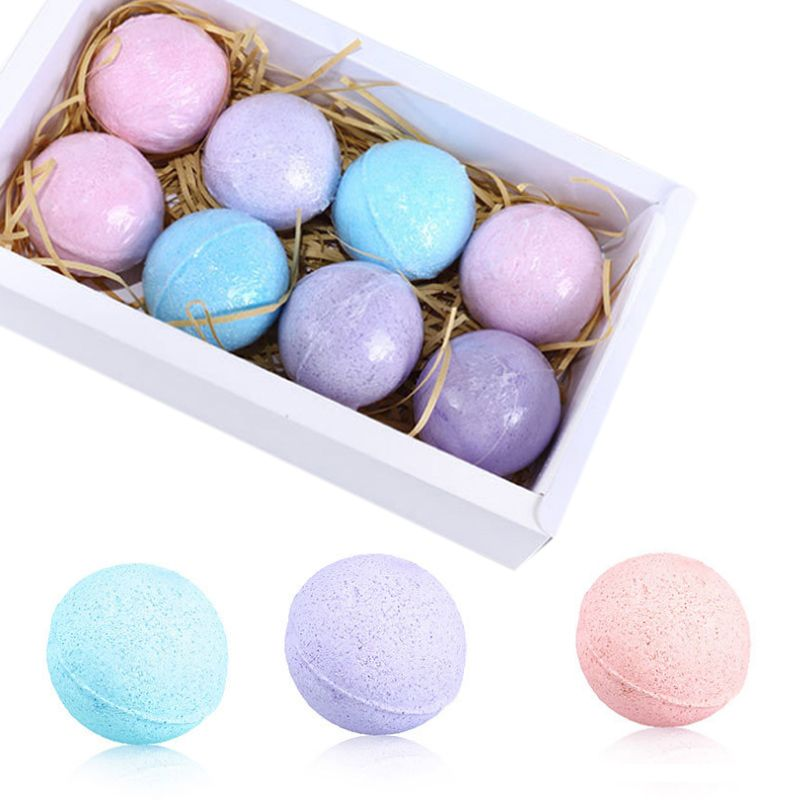 60g/Pc Organic Fizzy Bath Bombs Set Handmade SPA Stress Relief Exfoliating Gift Dropshipping