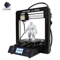 Anycubic 3D Imprimante I3 Mega Plus Grande taille d'impression et 3.5 pouce TFT tactile écran PLA ABS haute précision 3D Drucker