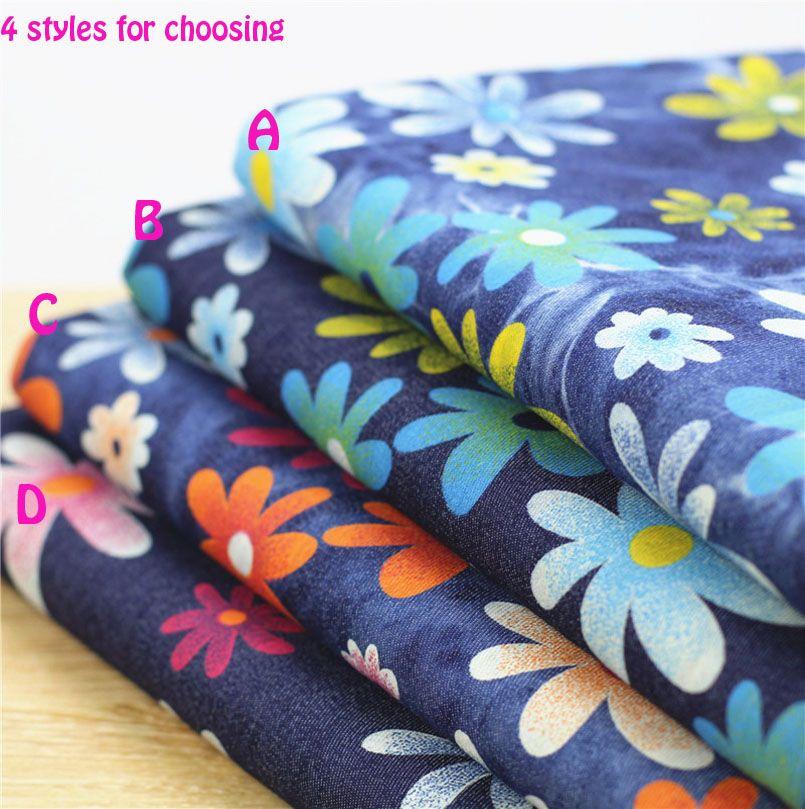 140 * 50cm1pc bon Denim 100% coton tissu doux Stretch Denim tissu à coudre matériel bricolage Textile Patchwork tissu pour vêtements