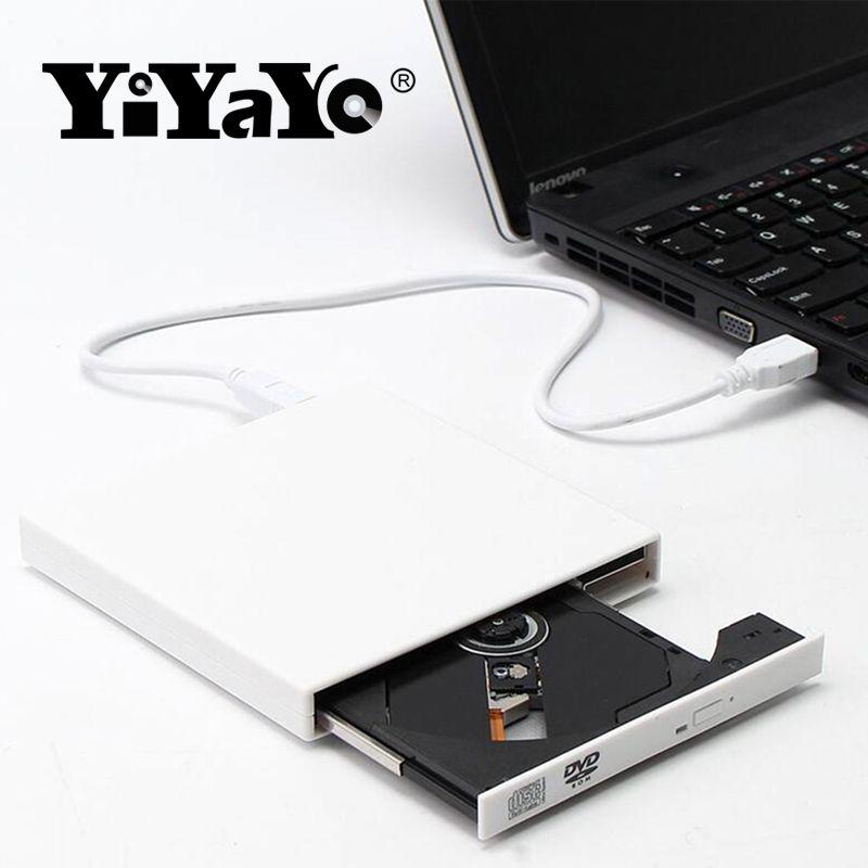 YiYaYo Externe Lecteur Optique DVD ROM CD RW USB 2.0 CD/DVD Lecteur Combo Lecteur Écriture Portatil pour Ordinateur Portable ordinateur Windows7/8