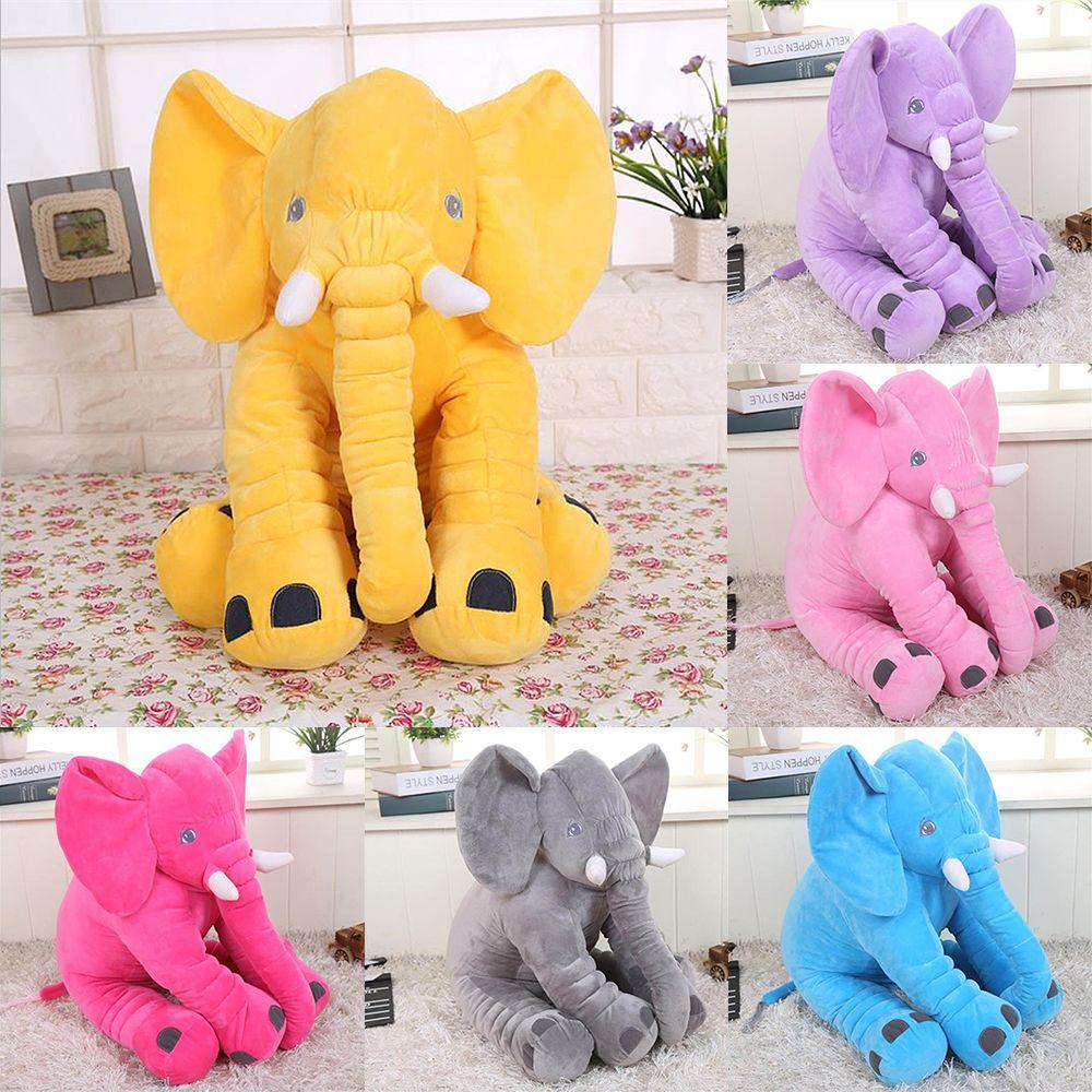 30/40cm/60cm Height Large Plush Elephant Doll Toy Kids Sleeping Back Cushion Cute Stuffed Elephant Baby Accompany Doll Xmas Gift