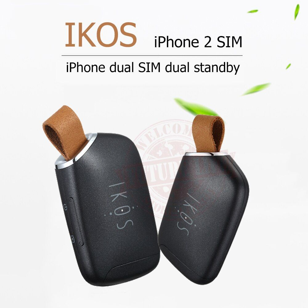 Dual Sim Dual Standby Adapter iKOS K1S No Jailbreak iOS 11 Call Text Functions For iPhone5-7/ i Pod Touch 6th/i Pad