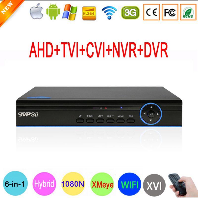 1080 P, 960 P, 720 P, 960 H CCTV Caméra XMeye Hi3521A 16 Canal 16CH 6 dans 1 Coaxial Hybride XVI 1080N CVI TVI NVR AHD DVR Livraison Gratuite
