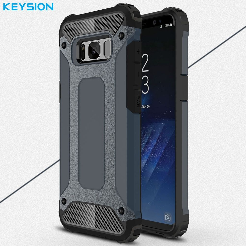 KEYSION Case For Samsung Galaxy S8 S8 Plus Hybrid Shell Armor Rugged TPU + Hard Plastic Shockproof Back Cover For G950 G955