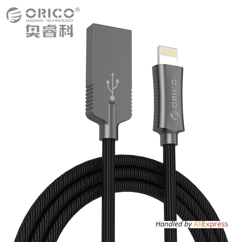 ORICO Zink-legierung Blitz zum Usb-kabel für iPhone iPad iPod 2.4A USB2.0 Lade Daten-synchronisierungs-kabel für Apple Geräte 1 Meter