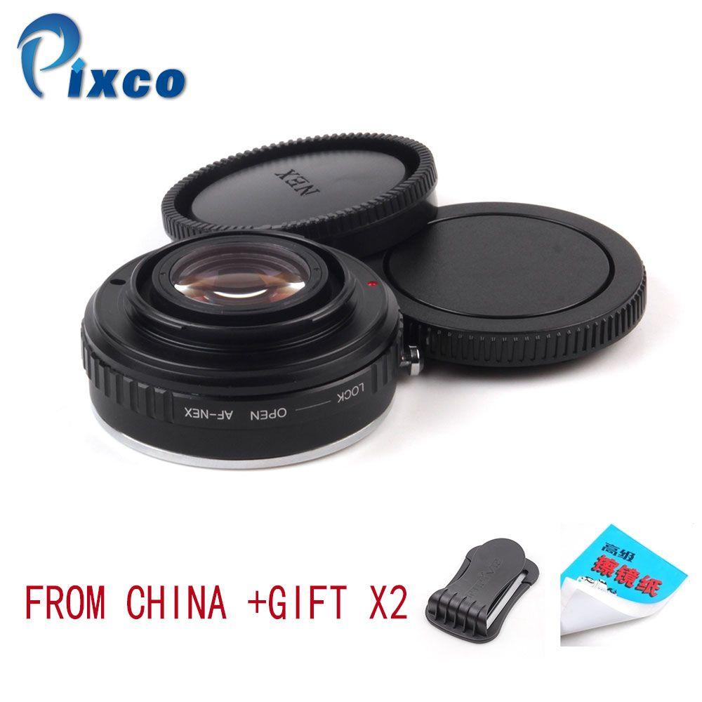 Pixco AF-NEX Focal Reducer Speed Booster Objektiv Mount Adapter Anzug Für Sony Alpha Objektiv NEX E Mount A5000 A3000 5 T 3N 6 5R