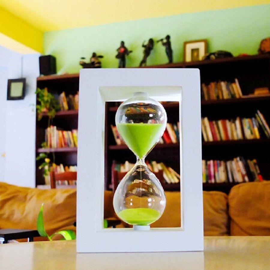 45/60 minutes sablier minuterie sablier Hauteur 20.5 cm creative Moderne artisanat du bois De Décoration reloj de arena gros