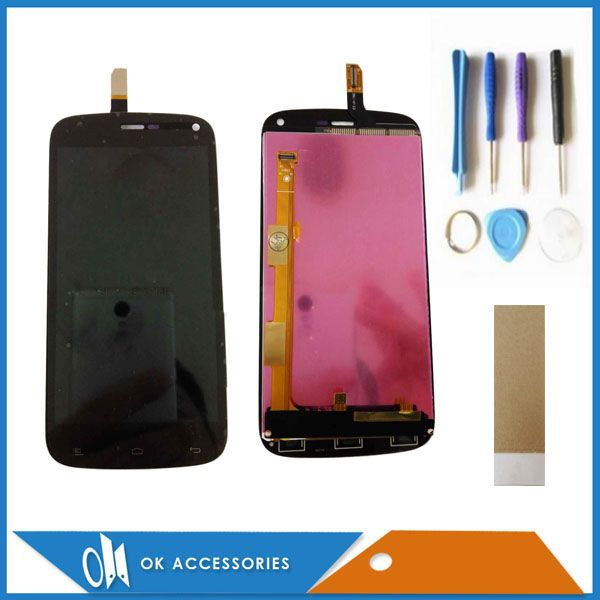 For Fly IQ4410 IQ 4410 LCD display + Touch Screen Digitizer Black Color 100% High Quality With Tools Tape 1PC/Lot