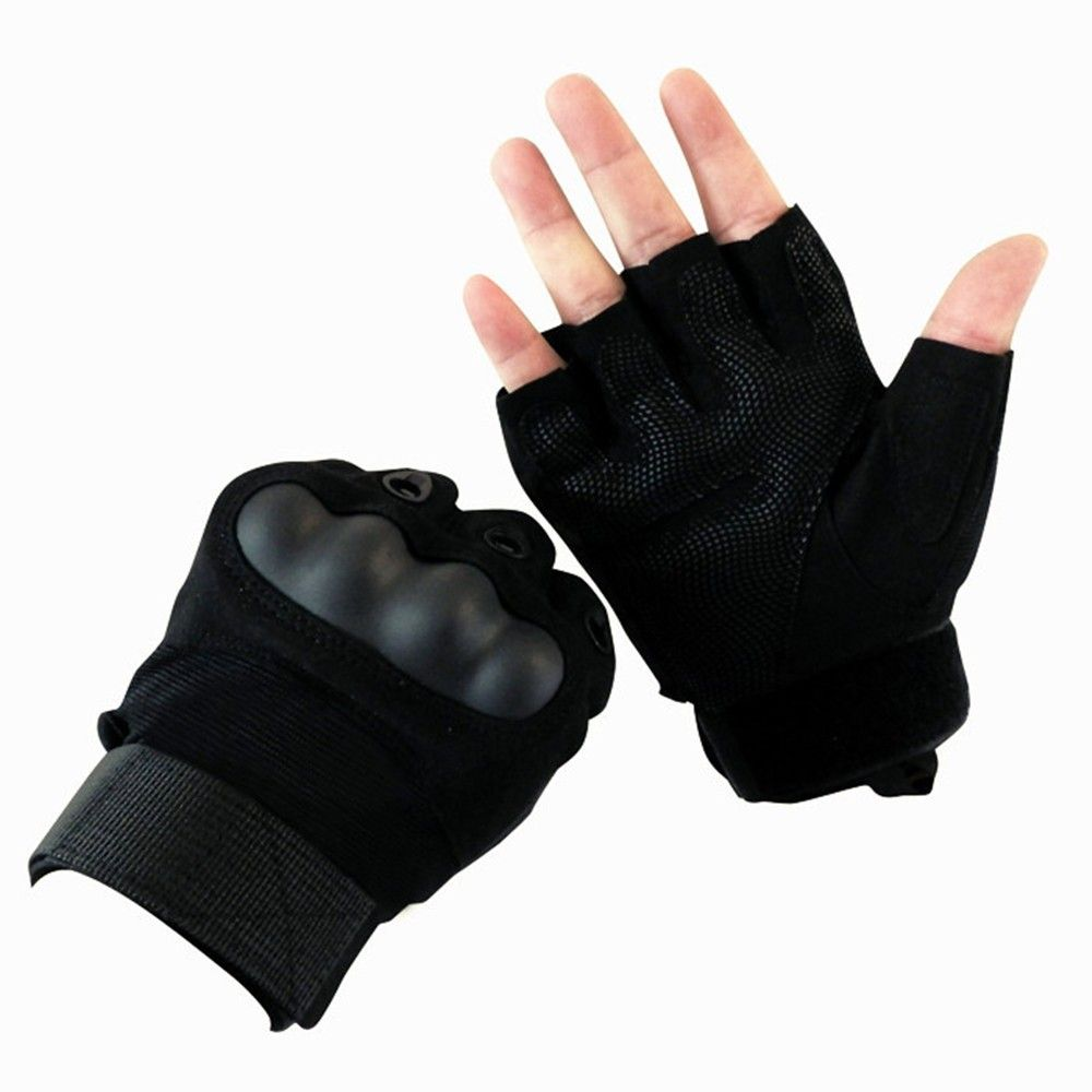 1 Pair Half Finger Tactical Gloves Combat Non-slip Anti Cutting Outdoor Sport Cycling Gloves Motorcycle Protect Gloves