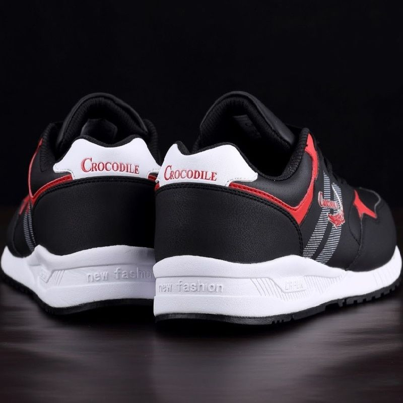 Crocodile Original Men Running Sneaker Shoes Men Jogging Trainer Zapatillas Stable Leather Footwear Male Athletic Sport Shoes