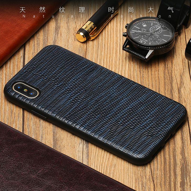 Luxus Echtem Leder telefonkasten Für iPhone X Lizard textur Weich shell all-inclusive fällen Für 6 6 S 7 8 Plus 5 5 S SE abdeckung