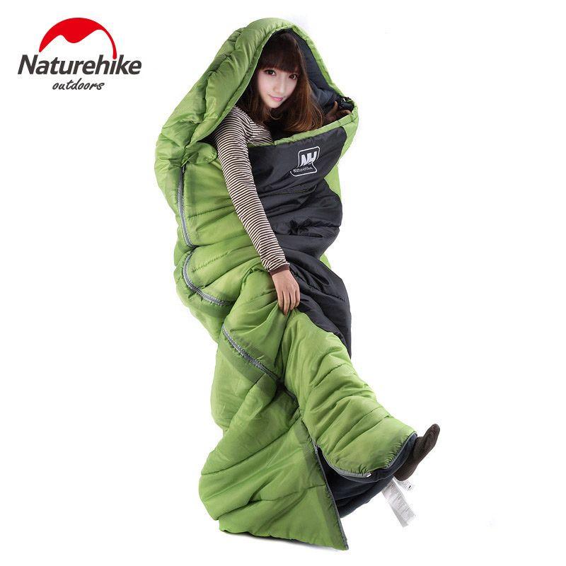 Ultralight  Portable Envelope Cotton Sleeping Bag Camping Sleeping Bag Outdoor Camping Travel 3 Colors M Size -Naturehike