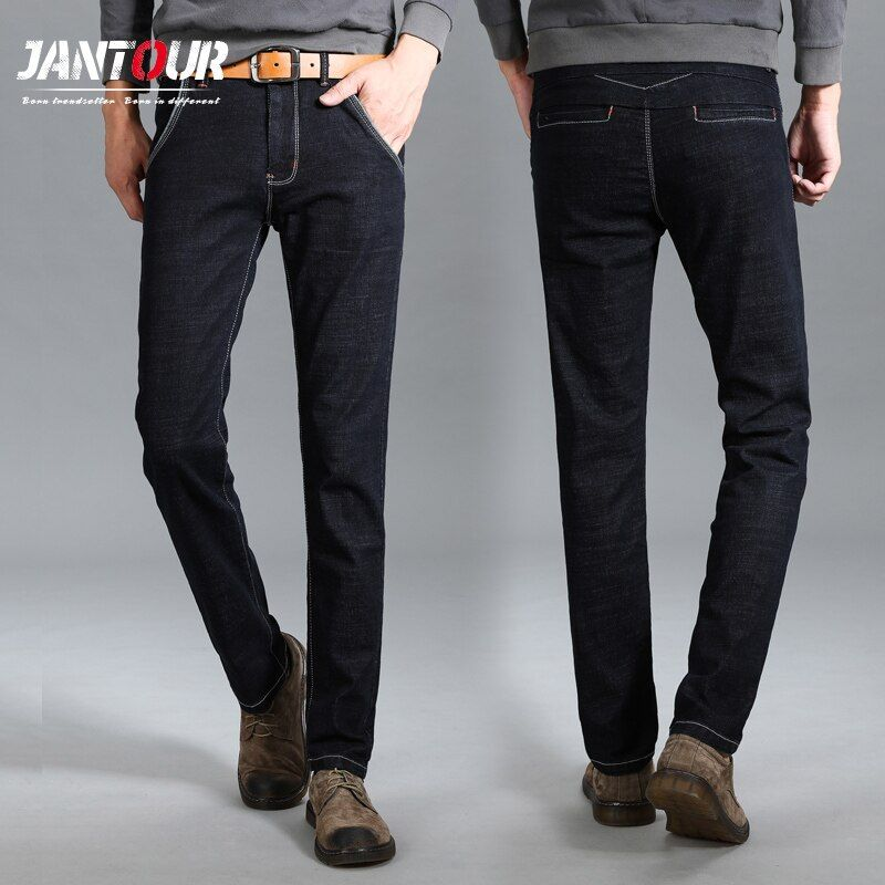 2018 new High Quality True jeans men brand fashion leisure men's jeans Fashion Long Straight Denim mens jean Male Pants Trousers