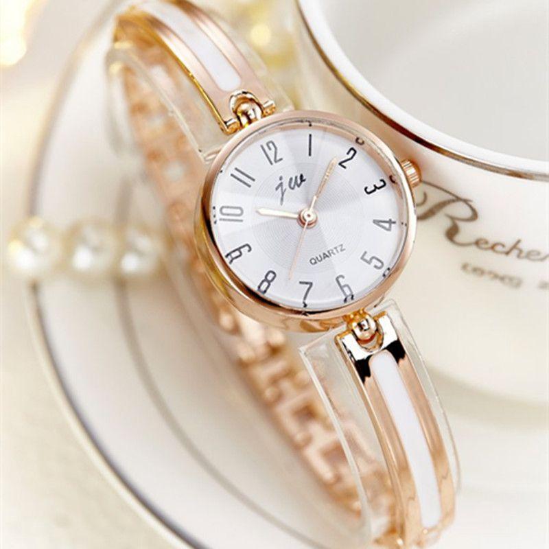 JW Marke Luxus Kristall Rose Gold Uhren Frauen Mode Armband Quarzuhr Frauen Kleiden Uhr Relogio Feminino orologio donna