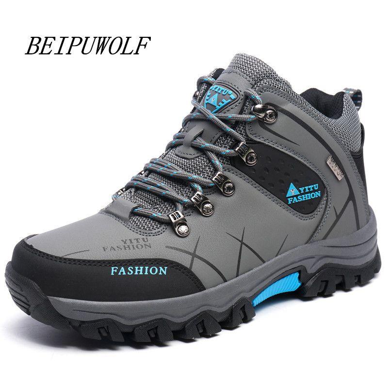 Plus la Taille 39-45 46 47 Marque Randonnée Chaussures Hommes Printemps Randonnée Bottes Montagne Escalade Chaussures Sport En Plein Air Chaussures Trekking Sneakers