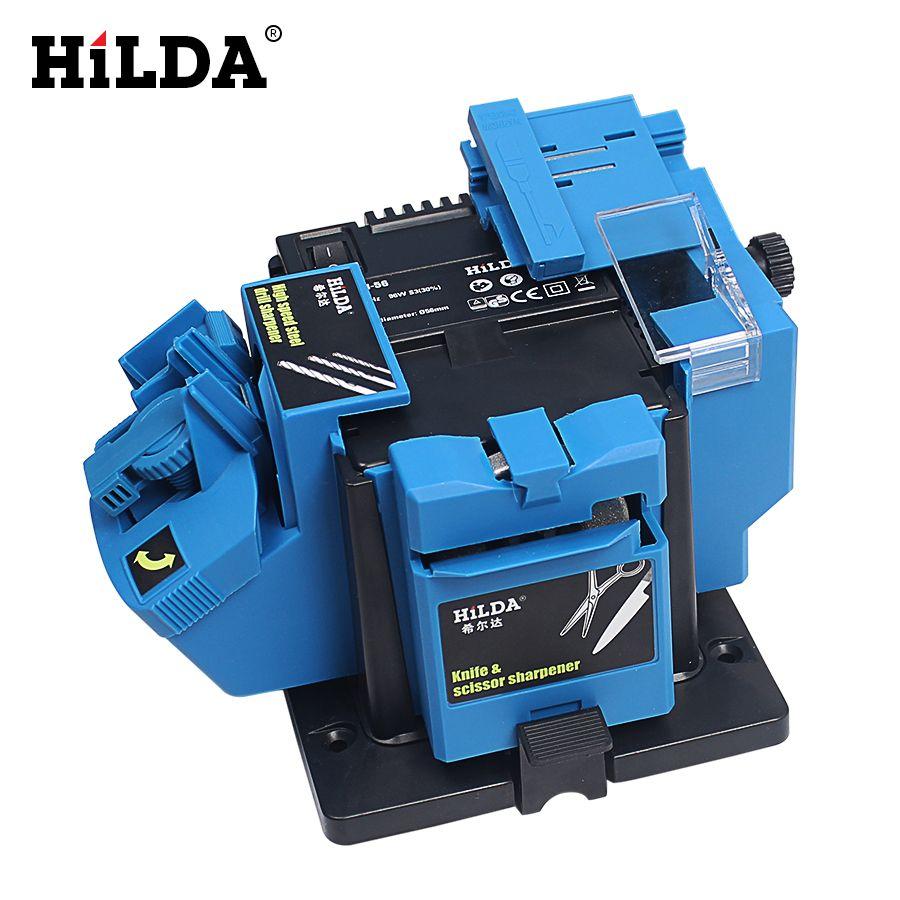 HILDA 96W 3in1 affûteuse multifonction outil de meulage domestique affûteuse perceuse pour couteau foret hélicoïdal HSS foret ciseau à ciseaux