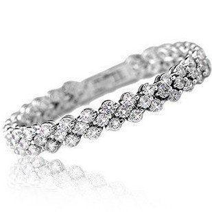 2016 nouveau design brillant romantique cubique zircon 925 en argent sterling 'bracelets femmes bijoux cadeau drop shipping