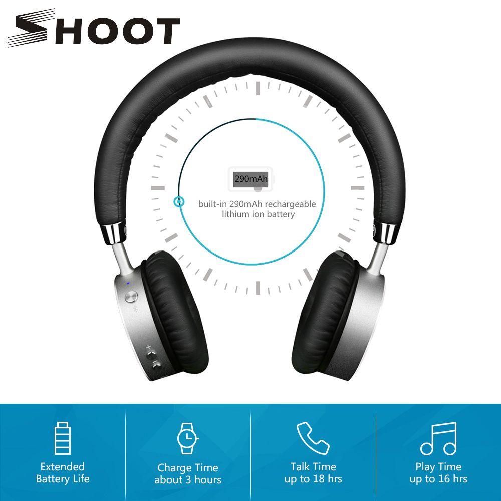 SHOOT 4.0 casque sans fil Bluetooth pour iPhone Xiaomi téléphone Android avec Microphone Bluedi sur l'oreille casque anti-bruit