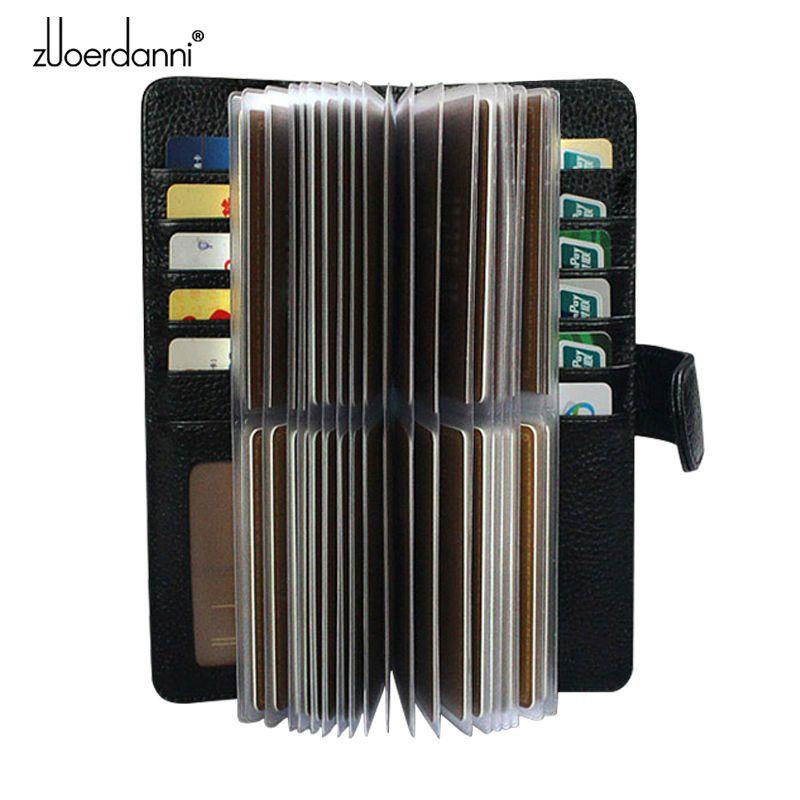 52 слотов из натуральной кожаная мужская визитница женская визитницы для карт кредитная карта чехол/мешок роскошный подарок кошелек высоко...