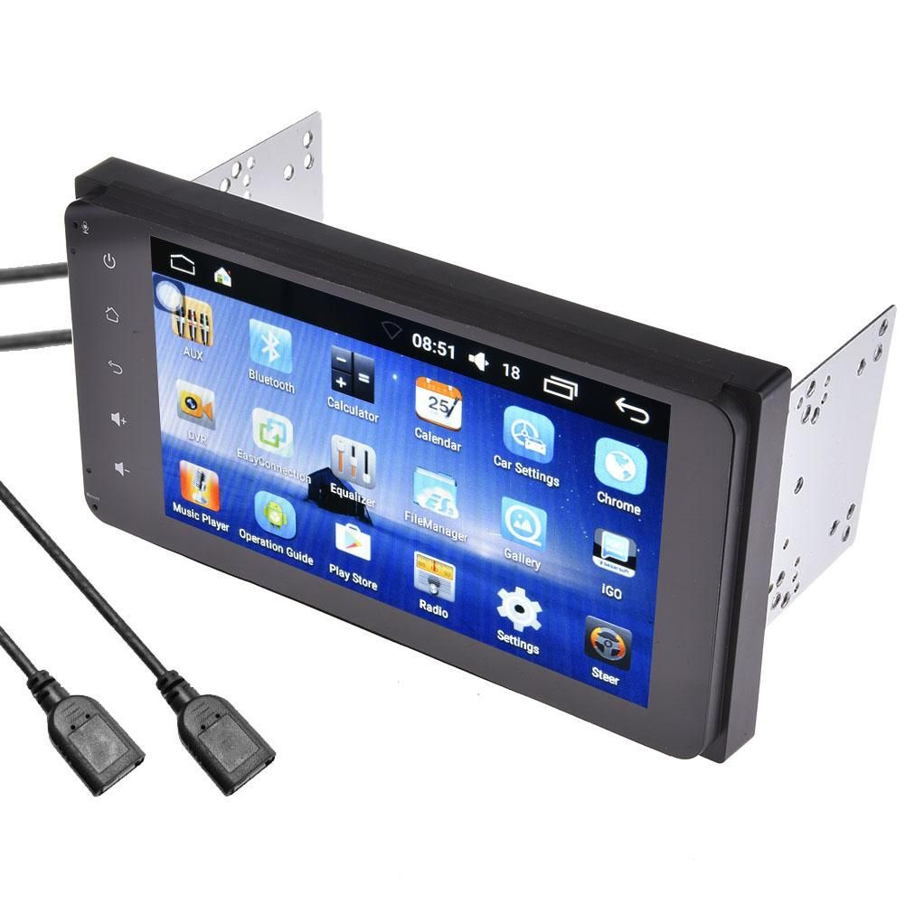 7 zoll 2DIN Bluetooth WIFI Navigator Radio MP5 Audio Player GPS Umkehr Kamera RDS Quad-core Android 6.0 Für Toyota EU Karte