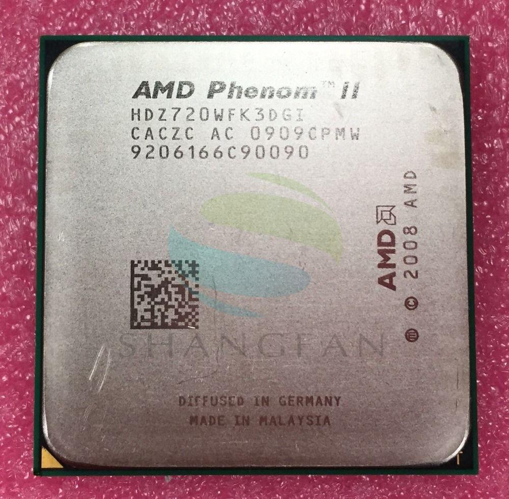 AMD Phenom X3 720 2.8GHz Triple-Core CPU Processor HDX720WFK3DGI HDZ720WFK3DGI  Socket AM3 938pin