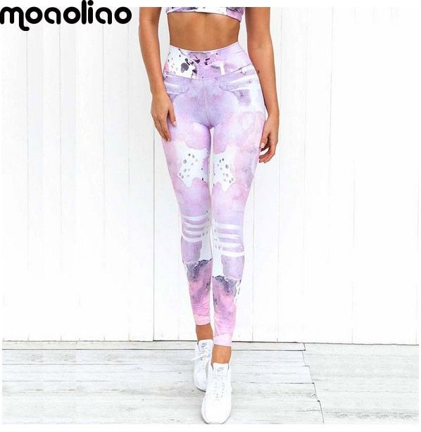 Gym Ropa Yoga Pants Printing Sports Leggings Fitness Running <font><b>Tights</b></font> Women Breathable Quick Dry Sportwear mallas deportiva mujer