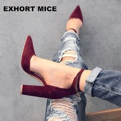2017 spring summer platform sexy women shoes fashion women pumps retro high heels pointed toe office & career shallow