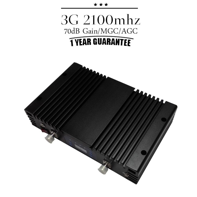 ALC MGC Intelligent Control 70dB Gain 3G WCDMA 2100 Mobile Cellular Signal Repeater 3G UMTS 2100mhz Cell Phone Booster Amplifier