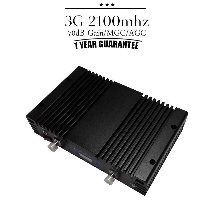 ALC MGC Intelligente Steuerung 70dB Gain 3G WCDMA 2100 Mobilfunksignalverstärker Repeater 3G UMTS 2100 mhz Zelle telefon Zusatzverstärker