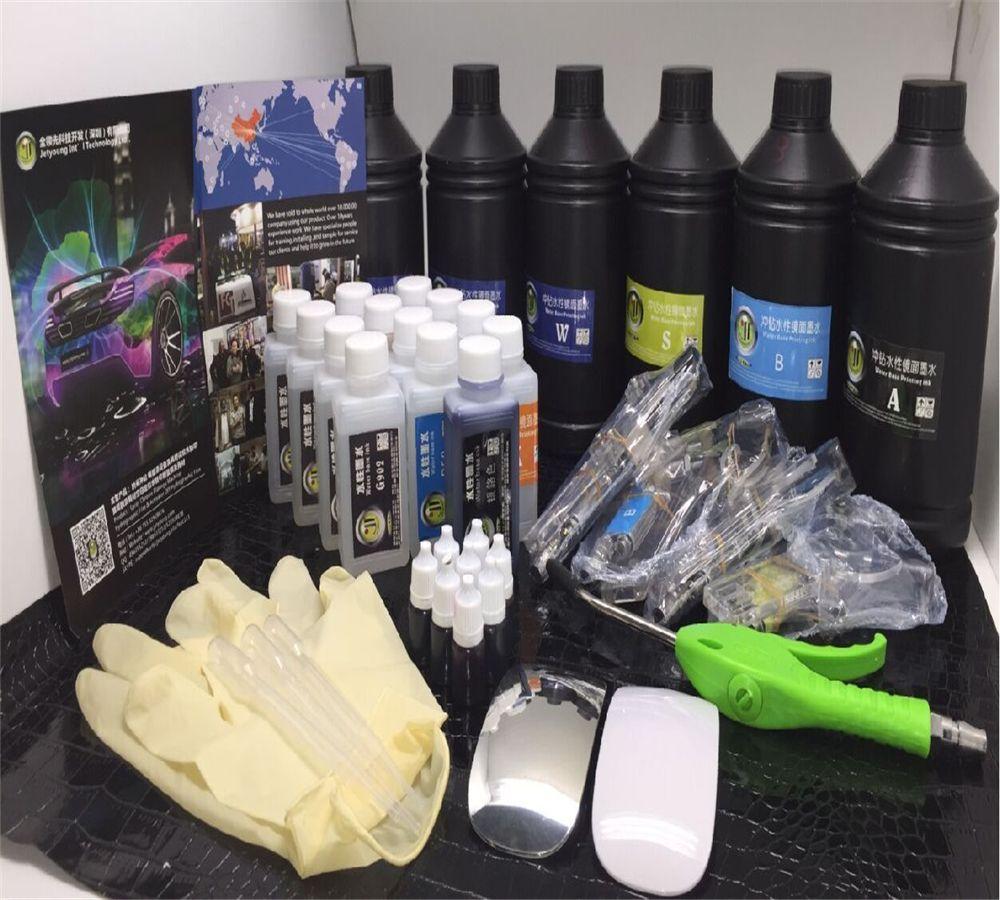 Freies verschiffen Jetyoung Spray Chrom Überzug kleine Versuch kit metall kunststoff spiegel malen und chrom chemische probe kit