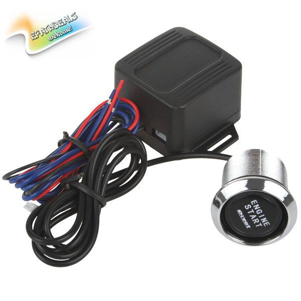 Universal 12V Auto Car Engine Start Stop Push Button Ignition Engine Switch Starter with Blue Illumination for All Cars