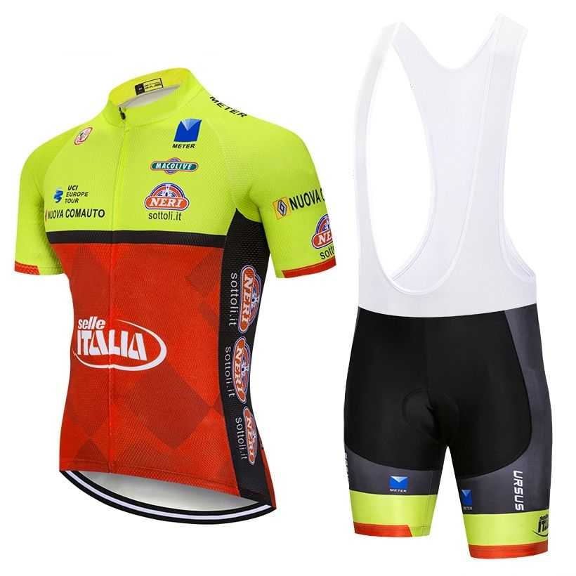New 2018 ITALIA cycling team jersey 9D gel pad bike shorts suit MTB Ropa Ciclismo mens summer bicycling Maillot culotte wear
