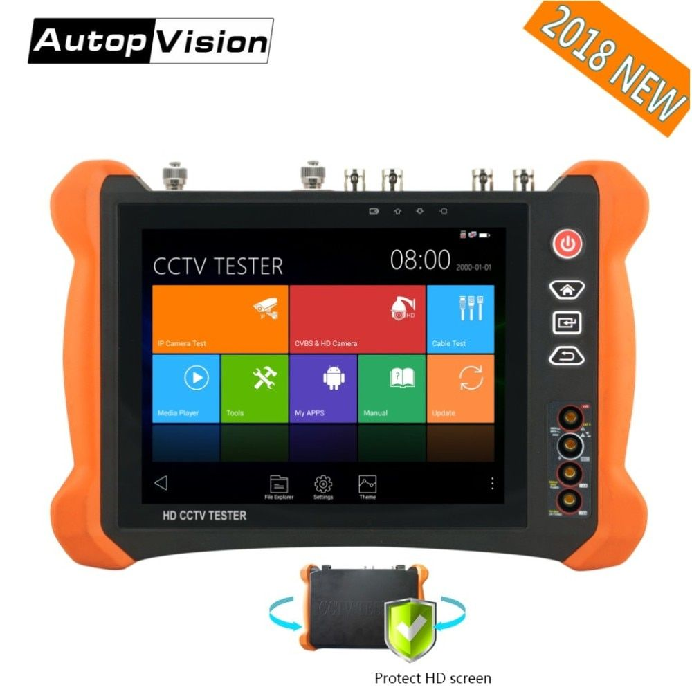 DHL Free X9 8 inch H.265 4K 8MP IP Camera Tester 2K Touch screen TVI CVI AHD SDI CVBS CCTV Tester Monitor with TDR, Cable tracer