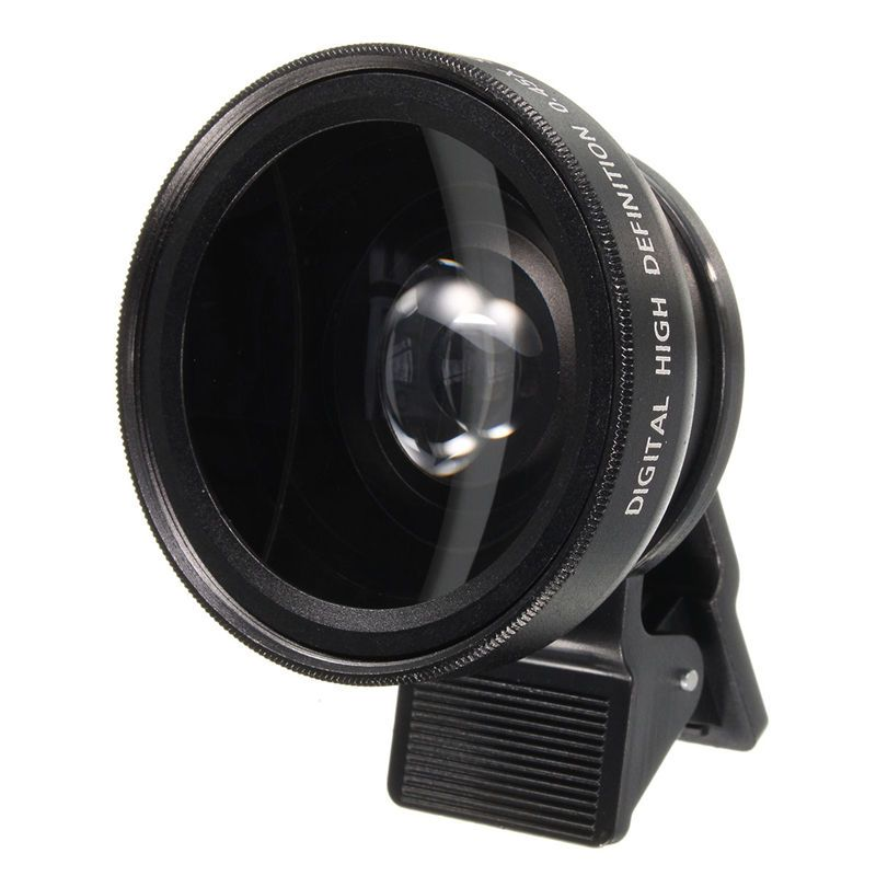 2 in 1 Universal Portable Detachable Phone 12.5X Macro Camera Lens With 0.45X Wide Angle Phone Lens For iPhone For Samsung