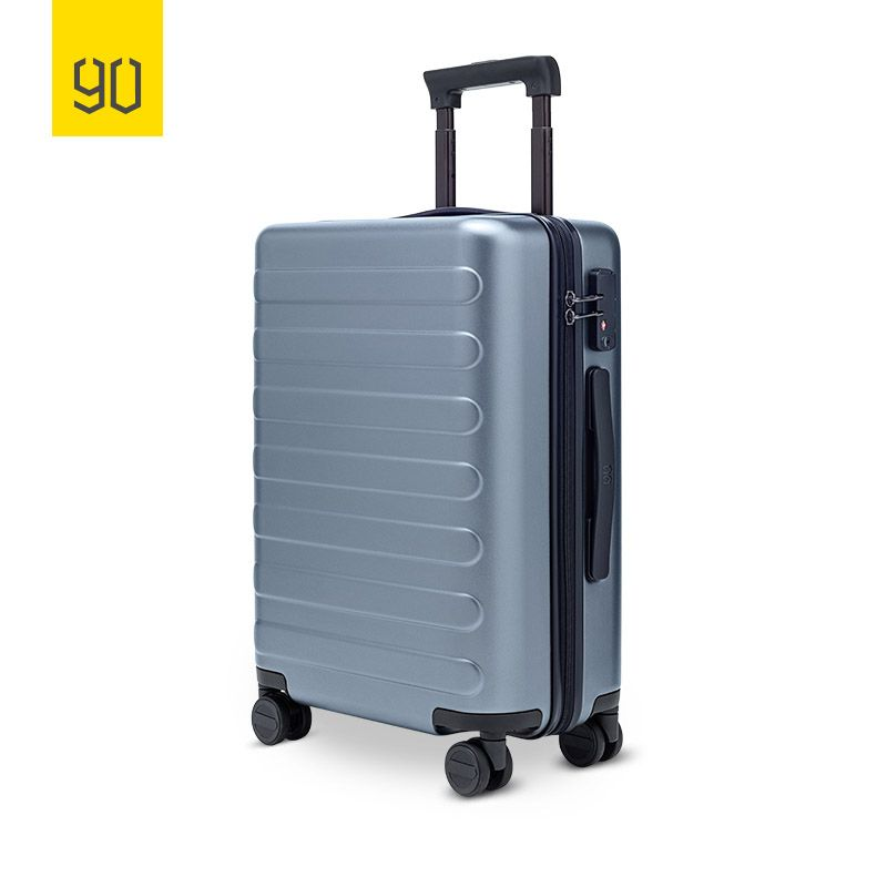 90FUN SEVEN-Bar Business Travel Suitcase PC Carry on Spinner Wheel Luggage 20 Inch for Woman Man
