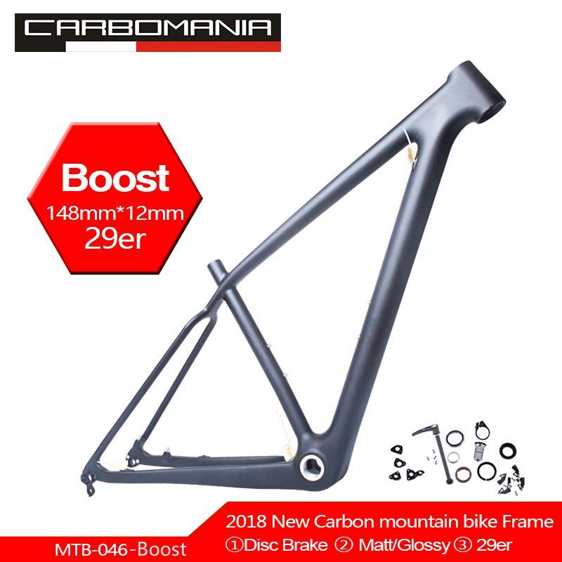 Freies verschiffen NEUE BOOST carbon fahrrad rahmen 148*12mm MTB fahrrad rahmen UD matt/glänzend 29er S /M/L radfahren mountainbike rahmen BSA