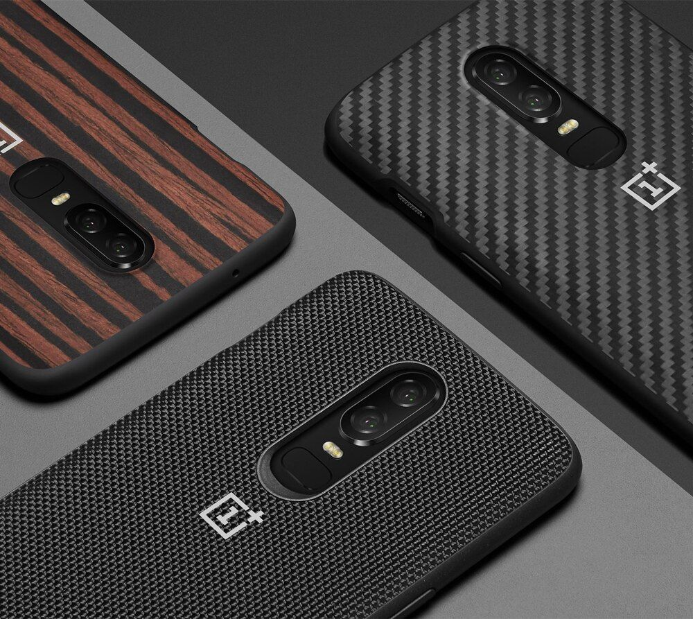 100% official back cover for Oneplus 5t 6 case carbon sandstone silicon phone shell cases and covers original accessories