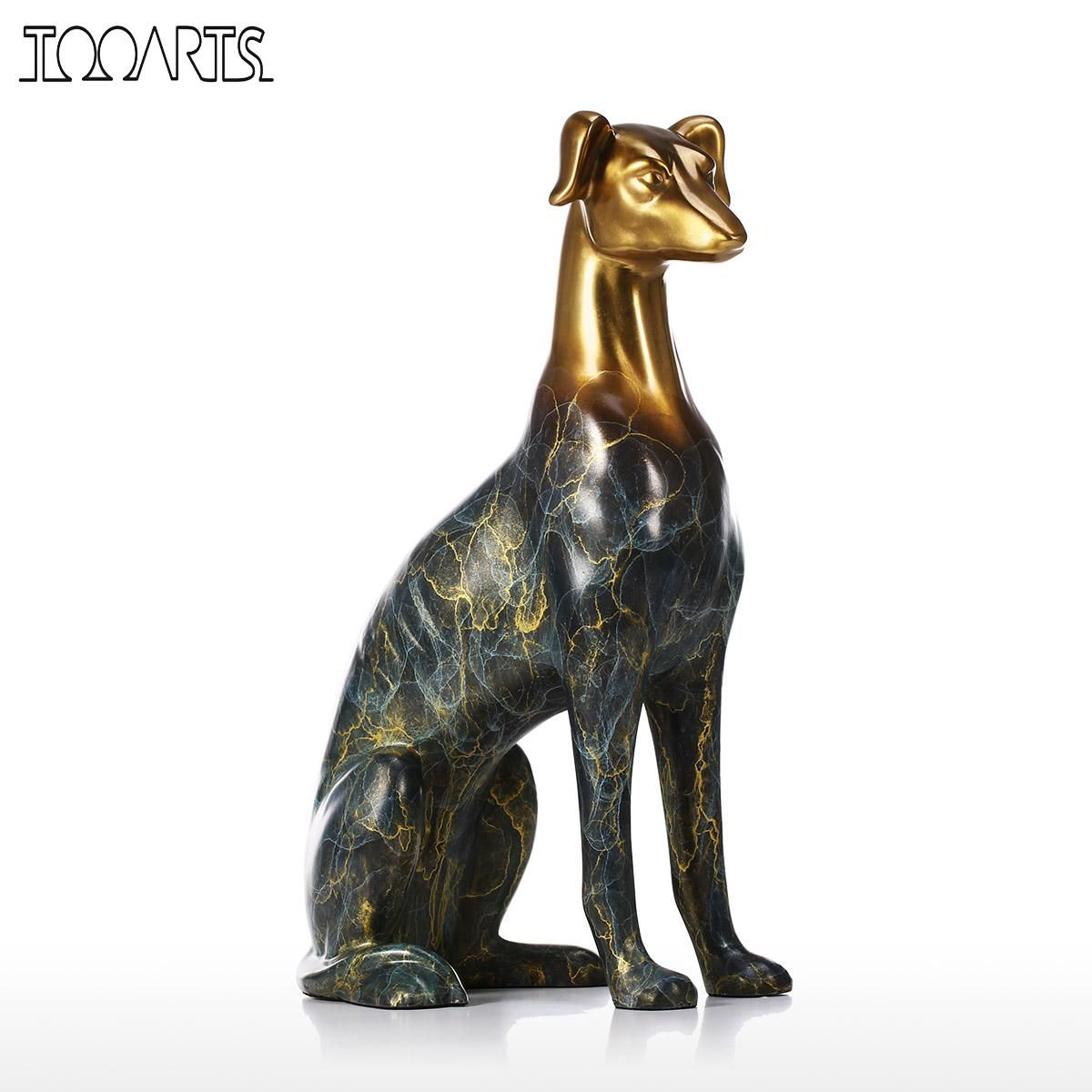 Tooarts Labrador Dog Bronze Sculpture Home Decor Sculpture Desktop Decorative Figurine Handmade Animal Statues & Sculptures