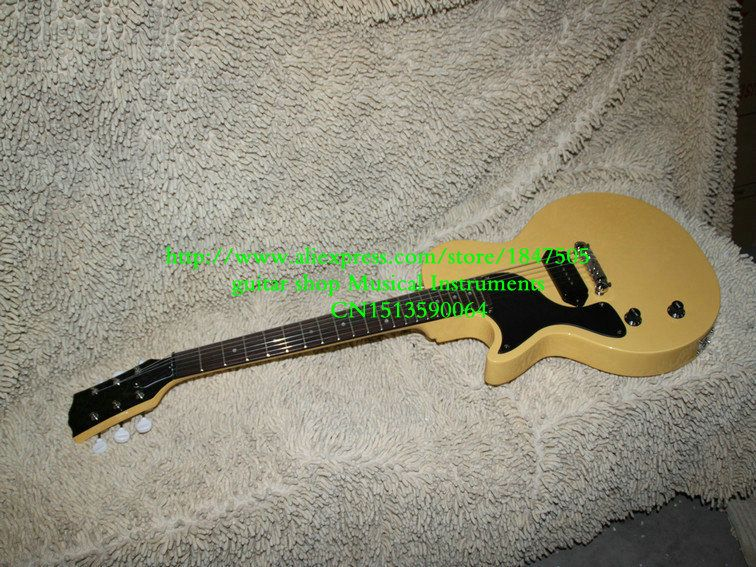 New Arrival left handed guitar Cream Junior Electric Guitar OEM Free Shipping