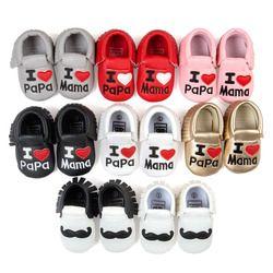 Infantile Bébé Garçons Filles Chaussures Gland Princesse Lit Bebe PU En Cuir Nouveau-Né Bébé Mocassins Amour Papa Mama Première Walker Chaussures