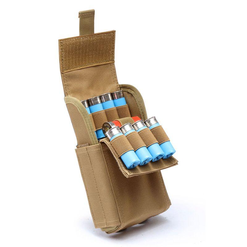 Sacs de munitions de chasse Molle 25 ronde 12GA 12 coquilles de munitions de calibre recharger des poches de Magazine sac tactique militaire Molle