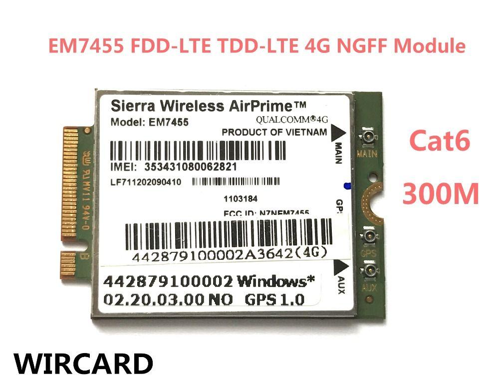 EM7455 FDD/TDD LTE Cat6 4G MODULE 4G CARD For Laptop