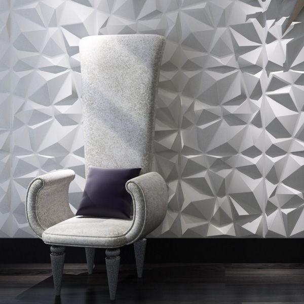 Diamant 3D Panneaux De Mur Texturisés 12 pcs 3D Illuminative Revêtement Mural 32.29 Sq. Ft