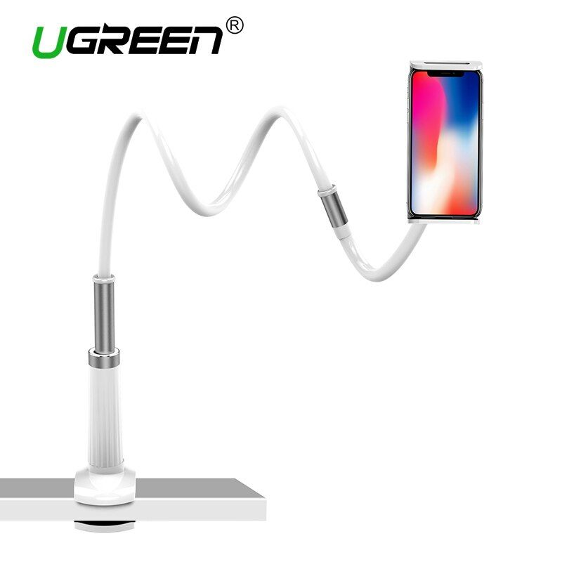 Ugreen Phone Holder Stand for iPhone 8X 360 Rotation Long Arm Mobile Phone Holder for iPad Tablets 3.7-10.6 inches Lazy Holders