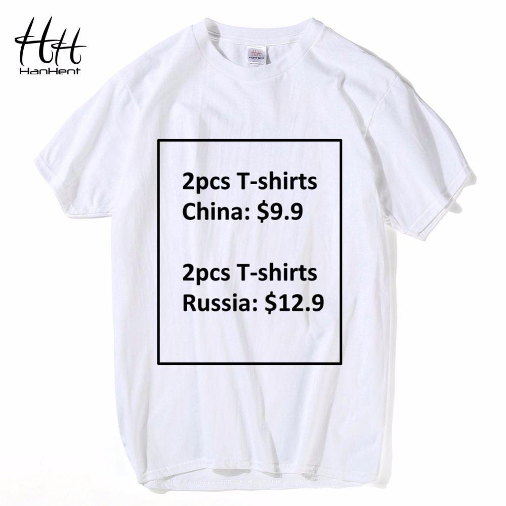 HanHent 2pcs Men T-shirts only pay $9.9 Funny Lucky Bag Cotton Tee shirts Male Creative Men's T shirts White Gray Black S-2XL