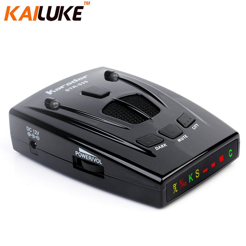 2016 Car Detector Car-detector STR535 Car Radar Russia 16 Brand Icon Display X K NK Ku Ka Laser Strelka Anti Radar Detector