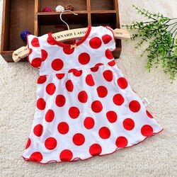 0-2years Baby Dresses Gadis Bayi Pakaian Gadis Gaun Musim Panas Pakaian Bayi Pakaian Katun Dicetak Bordir Gadis Anak Busana