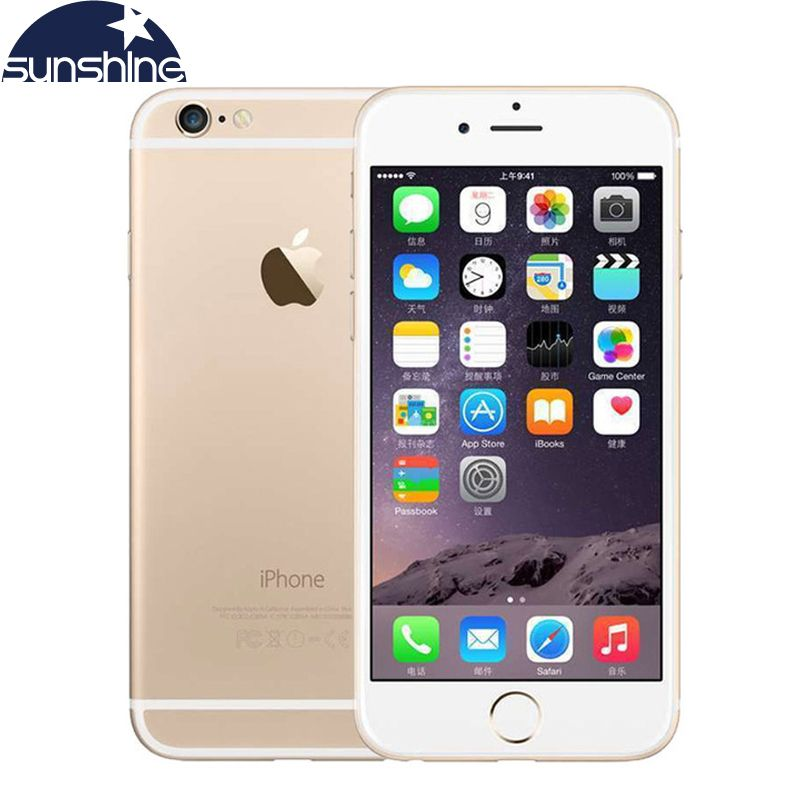 Unlocked Apple iPhone 6 4G LTE Cell phones 1GB RAM 16/64/128GB iOS 4.7' 8.0MP Dual Core WIFI IPS GPS Camera Used Phone