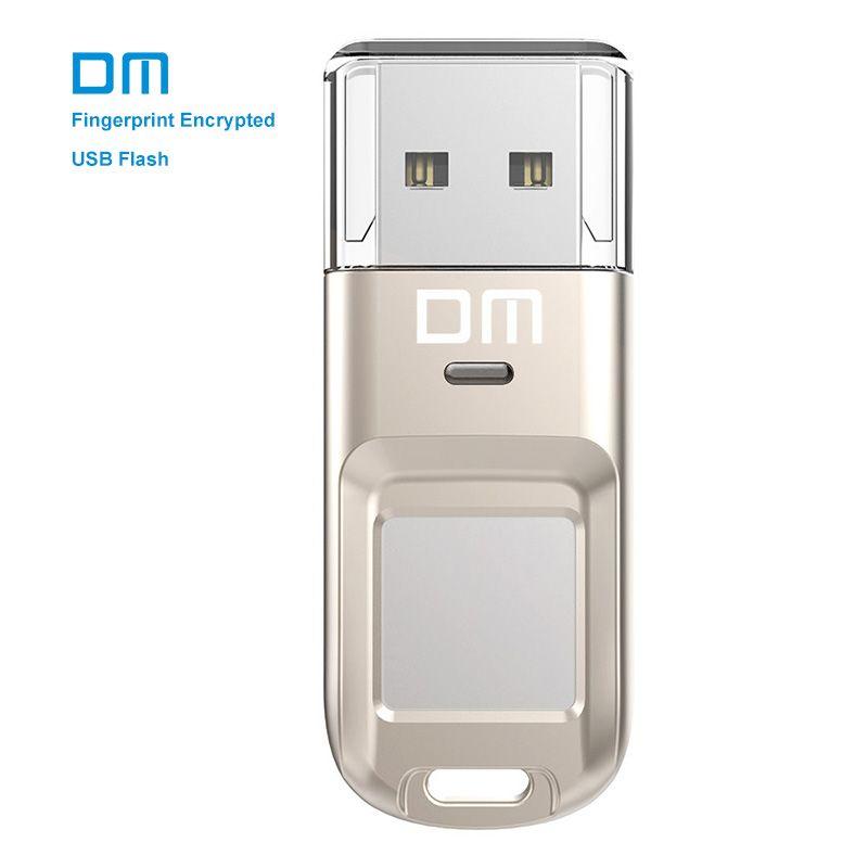 DM PD065 High-speed USB Flash Drive Recognition Fingerprint Encrypted Usb stick <font><b>32GB</b></font> 64GB Pen Drive Security Memory usb 2.0 disk
