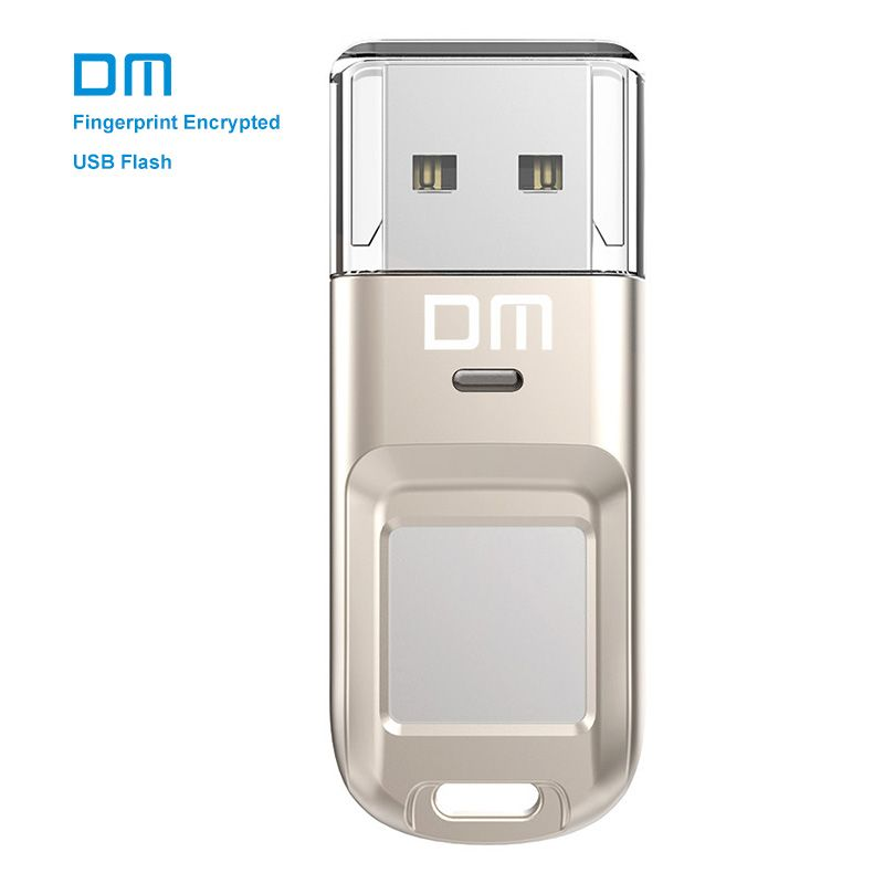 DM PD065 High-speed USB Flash Drive Recognition Fingerprint Encrypted Usb stick 32GB 64GB Pen Drive Security Memory usb 2.0 disk